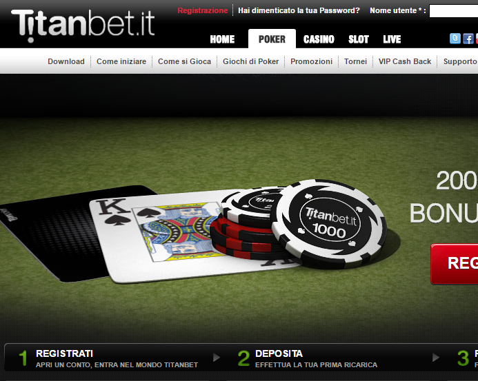 Titanbet.it - Italy's Top Online Casino and Poker Room